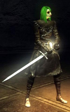 long sword at the ready