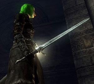 short sword at the ready