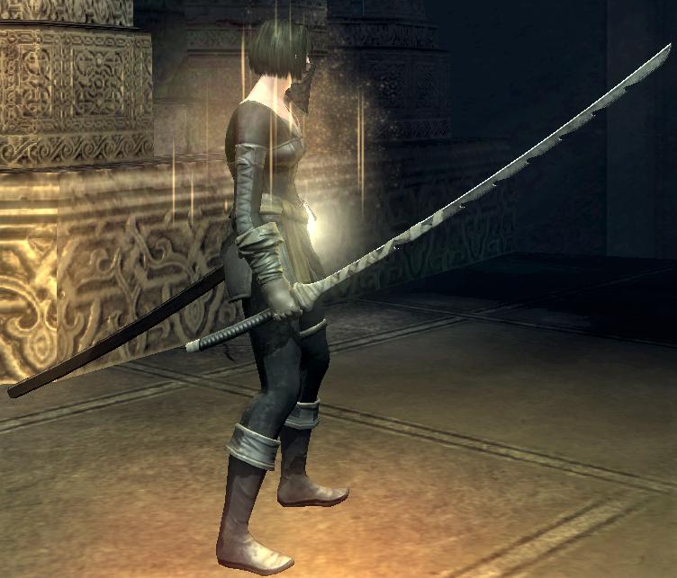 magic sword makoto at the ready